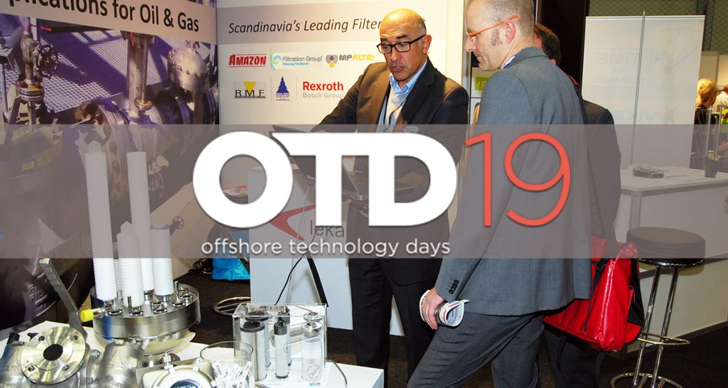 Lekang Filter stand B-6012 at OTD (Offshore Technology Days) 2019